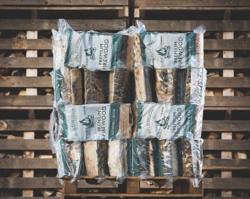 kiln-dried hardwood firewood 50 bags
